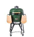 YNNI 23 inch Green Large Kamado BBQ Grill with remote Chip Feeder and stand TQ0C23GR