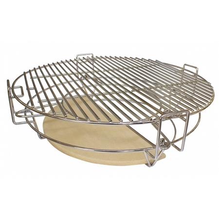 YNNI Universal Stainless Steel Rib Rack BBQ Kamado Big Green Egg 40cm TQALP
