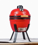 YNNI 14 inch Red Small Kamado Oven BBQ/Grill Egg with Stand TQ0014RE