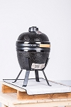YNNI 14 inch Black Small Kamado Oven BBQ/Grill Egg with Stand TQ0014BL