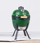 YNNI 14 inch Green Small BBQ/Grill Kamado Oven Egg with Stand TQ0014GR