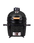 YNNI 15.7 inch Black Kamado Oven BBQ/Grill Egg with Stand TQ0015BL