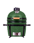 YNNI 15.7 inch Green Kamado Oven BBQ/Grill Egg with Stand TQ0015GR