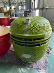 YNNI 25 inch LIME Green Limited Edition XL Kamado BBQ Grill with Remote Chip Feeder and Stand New  Model TQ0C25LM