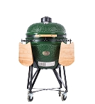 YNNI 25 inch Green XL Kamado BBQ Grill with Remote Chip Feeder and Stand New Model TQ0C25GR