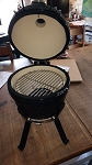 YNNI 13 inch Black Small Kamado Oven BBQ/Grill Egg with Stand TQ0013BL