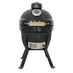 YNNI 13 inch Black MINI Kamado Oven BBQ/Grill Egg with Cast Iron Support TQ0013BL