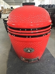 YNNI 25 inch Orange Limited Edition XL Kamado BBQ Grill with Remote Chip Feeder and Stand New  Model TQ0C25OR