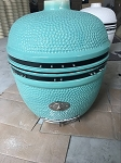 YNNI 25 inch Cyan Limited Edition XL Kamado BBQ Grill with Remote Chip Feeder and Stand New  Model TQ0C25CY
