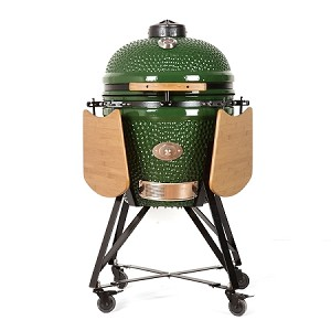 YNNI 21 inch Green Kamado Oven with remote chip feeder and stand TQ0C21GR New 2019 Model