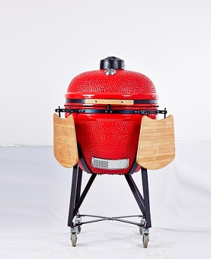 YNNI 25 inch Red XL Kamado Grill BBQ/Oven Egg with Stand TQ0025RE