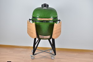 YNNI 25 inch Light Green XL Limited Edition Kamado Oven BBQ/Grill Egg with Stand TQ0025LG